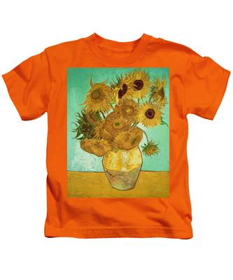 Sunflowers By Van Gogh Kids T-Shirt