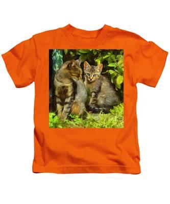 A Pair Of Feral Cats Kids T-Shirt