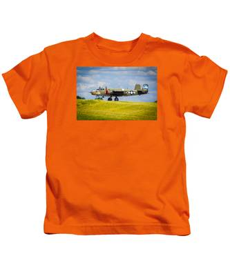 B-25 Landing Original Kids T-Shirt