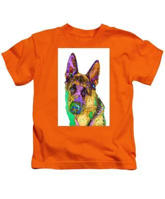 Bogart The Shepherd. Pet Series Kids T-Shirt