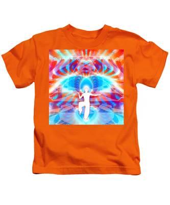 Cosmic Spiral 77 Painted Kids T-Shirt by Derek Gedney