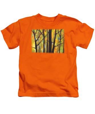 Tree Trunk Kids T-Shirts