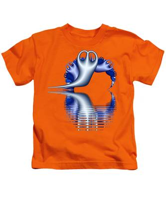 Fractal Peeble Ghosts Kids T-Shirt