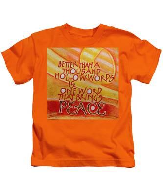Inspirational Saying Peace Kids T-Shirt