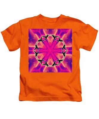 Neon Slipstream Kids T-Shirt by Derek Gedney
