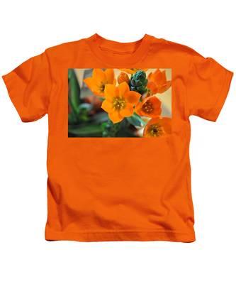 Kids T-Shirt featuring the photograph Orange Star by Bridgette Gomes