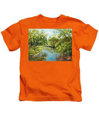 River Through The Forest Kids T-Shirt