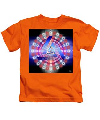 Kids T-Shirt featuring the photograph Sacred Geometry 646 by Endre Balogh
