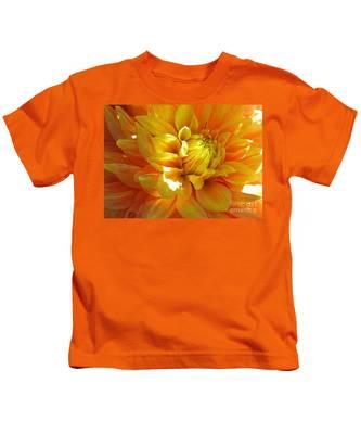 The Heart Of A Dahlia Kids T-Shirt