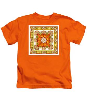 Topaz And Peridot Bling Kaleidoscope Kids T-Shirt