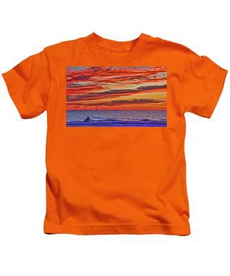 Tropical Gulf Nights Kids T-Shirt