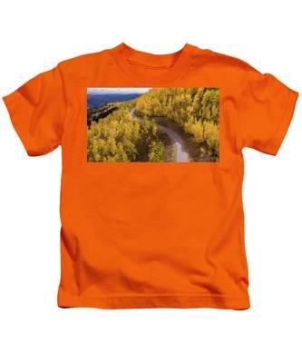 Winding Through Fall Kids T-Shirt