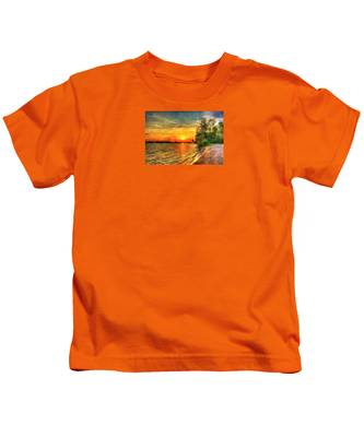 Lake Sunset Kids T-Shirt