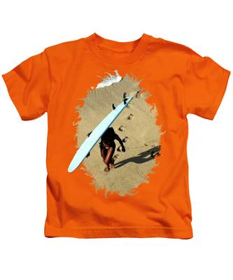 Female Surfer Kids T-Shirts