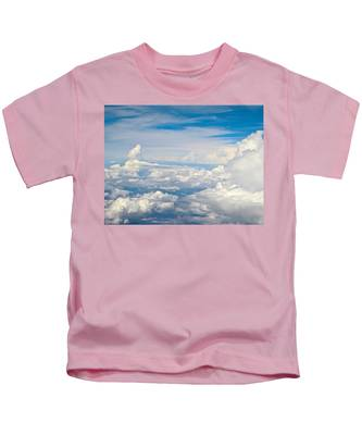 Above The Clouds Over Texas Image B Kids T-Shirt
