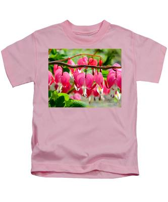 Bleeding Heart Flowers Kids T-Shirt