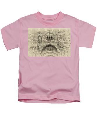 Lion Gate Jerusalem Old City Israel Kids T-Shirt