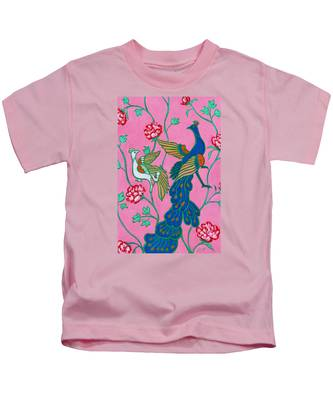 Peacocks Flying Southeast Kids T-Shirt