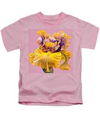 Spectacular Iris Close Up Kids T-Shirt
