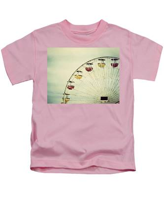 Vintage Ferris Wheel Kids T-Shirt