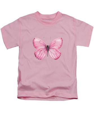 106 Pink Marcia Butterfly Kids T-Shirt