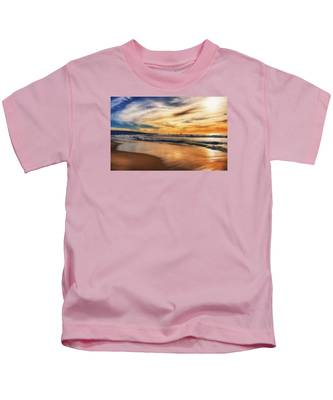 Afternoon At The Beach Kids T-Shirt