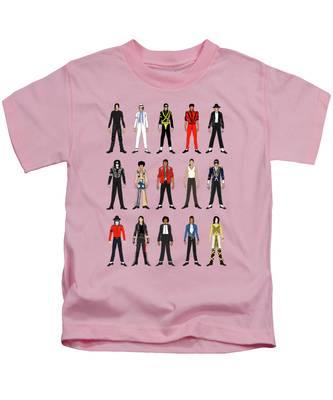 Michael Jackson King Of Pop Kids T-Shirts