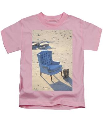Kids T-Shirt featuring the photograph Blue Chair by Bridgette Gomes