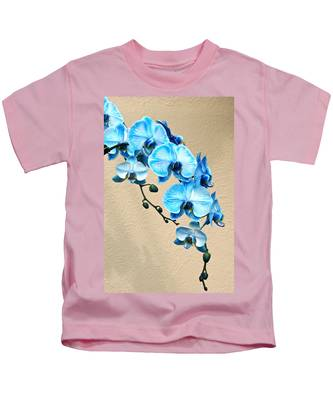 Blue Mystique Orchid Kids T-Shirt