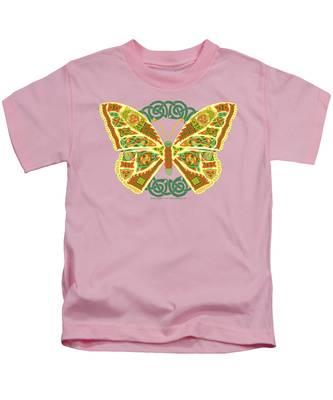 Celtic Butterfly Kids T-Shirt
