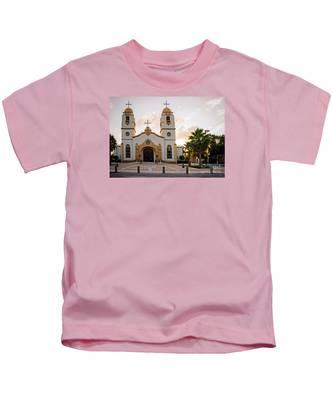 Church At Sunset Kids T-Shirt