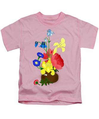Floral Still Life 1674 Kids T-Shirt