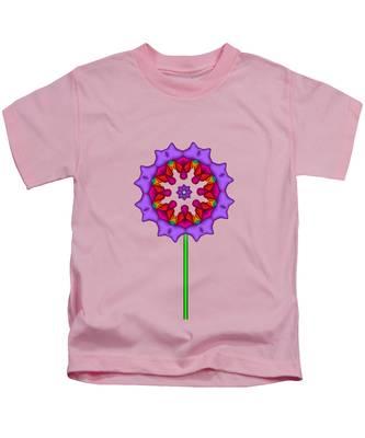 Fractal Flower Garden Flower 02 Kids T-Shirt
