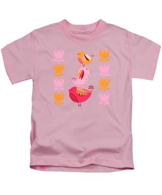 Orange Flower Kids T-Shirts