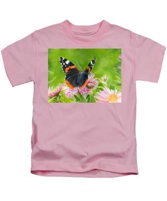 Red Admiral Kids T-Shirt