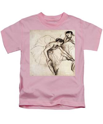 Two Dancers Resting Kids T-Shirt