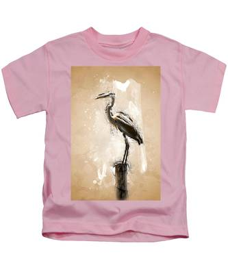 Heron On Post Kids T-Shirt