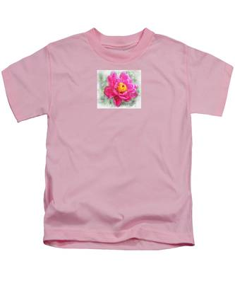 Peony And Bee Kids T-Shirt