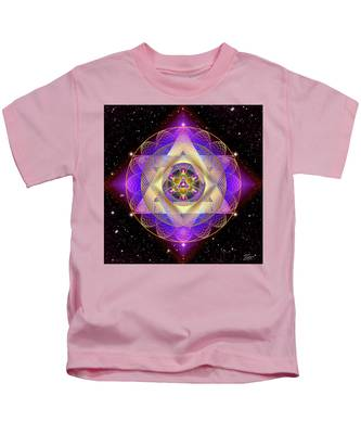 Kids T-Shirt featuring the digital art Sacred Geometry 741 by Endre Balogh