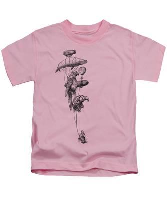 Hot Air Balloon Kids T-Shirts