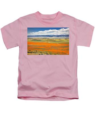 Kids T-Shirt featuring the photograph The Road Through The Poppies 2 by Endre Balogh