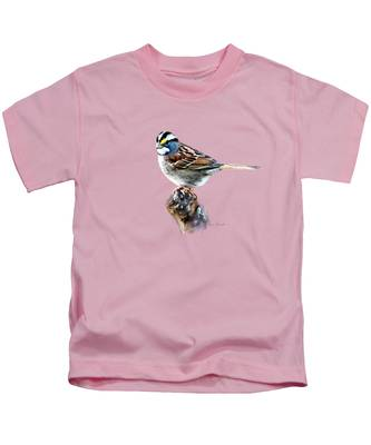 White-throated Sparrow Kids T-Shirt