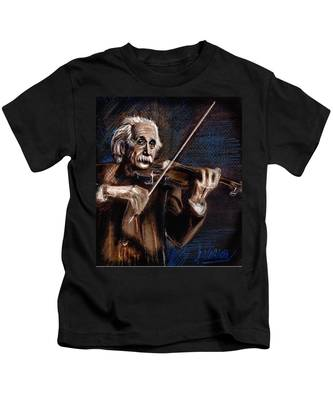 Albert Einstein And Violin Kids T-Shirt