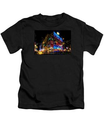 A December Evening At Macy's  Kids T-Shirt