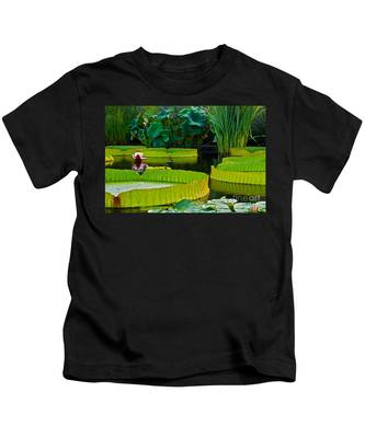 A Garden In Gentle Waters Kids T-Shirt