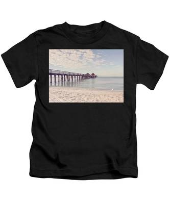 An Early Morning - Naples Pier Kids T-Shirt