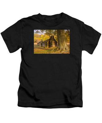 Autumn And The Huts At Valley Forge Kids T-Shirt