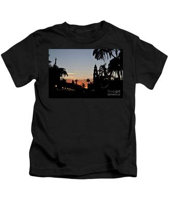 Kids T-Shirt featuring the photograph Balboa At Sunset  by Bridgette Gomes