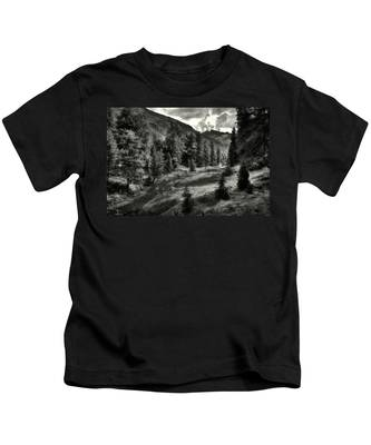 Clouds Over The Mountainscape Kids T-Shirt