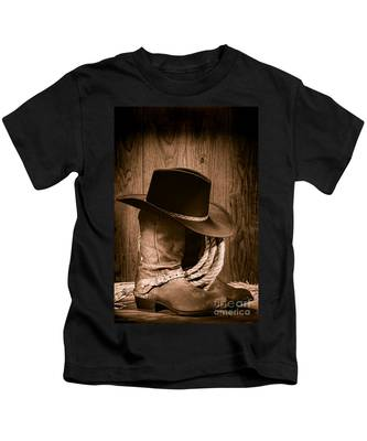 Cowboy Hat And Boots Kids T-Shirt